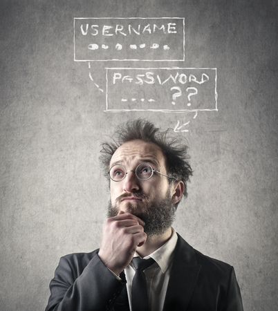 Photo pour Trying to remember username and password - image libre de droit