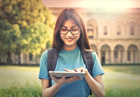 Photo for Young student using a tablet - Royalty Free Image