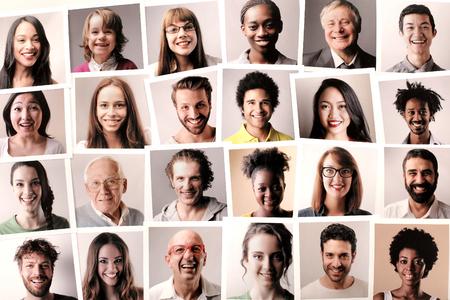 Photo pour Smiling people - image libre de droit