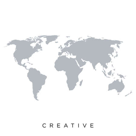 Illustration for map world vector design earth - Royalty Free Image