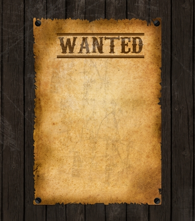 Old Vintage Western Wanted Poster