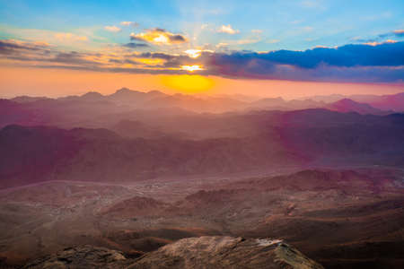 Amazing Sunrise at Moses (Sinai) Mountain