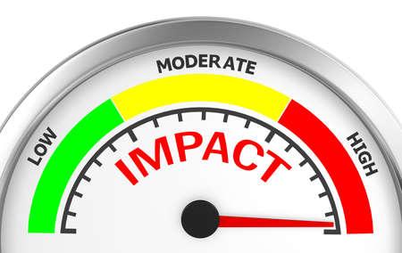 Foto de impact in the highest position meter, 3d rendering - Imagen libre de derechos