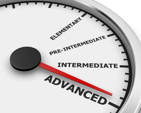 Meter Concept image for illustration of online courses. 3d rendering
