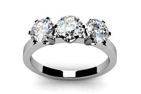Wedding ring on white background