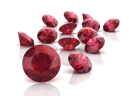 Ruby or Rodolite gemstone (high resolution 3D image)