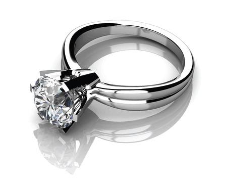 The beauty wedding ring.Vector illustration.