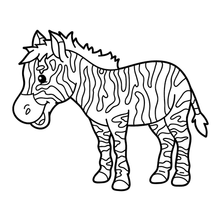 Zebra Coloring Illustration