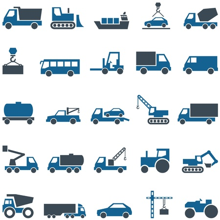 Vector icons of construction