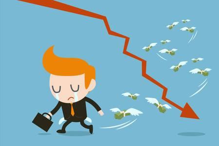 businessman lose money