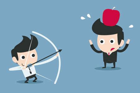risk, business partner concept vector cartoon