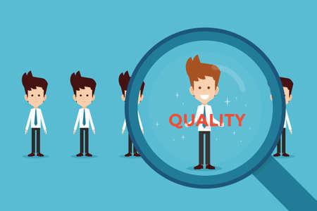 Illustration pour hand searching Quality - image libre de droit