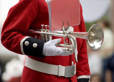 Member of brass marching band