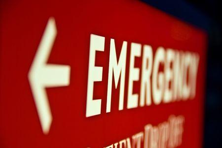 Emergency Room Arrow sign