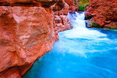 waterfall on Havasu Creek Arizona (Grand Canyon National Park)