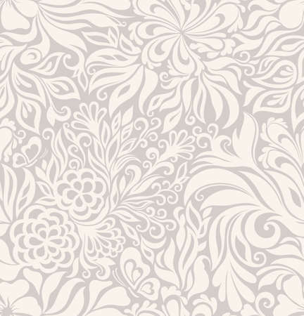 Photo for Luxury seamless graphic background with flowers and leaves - Royalty Free Image