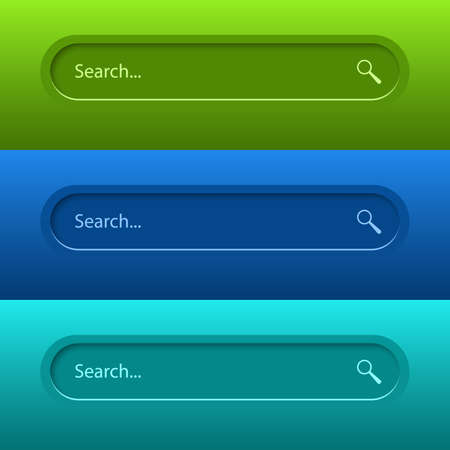 Illustration pour Search Bar for ui, design and web site. Search Address and navigation bar icon. Vector collection of search form templates for websites. - image libre de droit