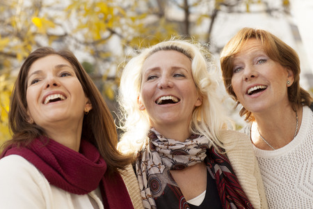 Adult women group of friends outdoors