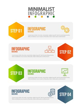 Illustration pour Business data visualization. Process chart. Abstract elements of graph, diagram with steps, options, parts or processes. Vector business template for presentation. Creative concept for infographic. - image libre de droit
