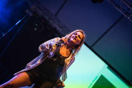 Bergamo, Italy. 23st July 2017. Italian singer Irene Grandi performs at the Rock sul Serio festival. Brambilla Simone Photography Live News