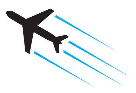 Ilustración de Flying airplane icon - Imagen libre de derechos