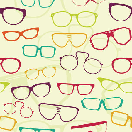 Seamless glasses pattern