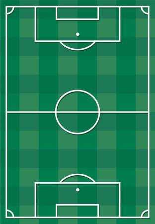 Soccer or football field