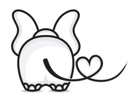 Illustration pour Elephant in love - image libre de droit