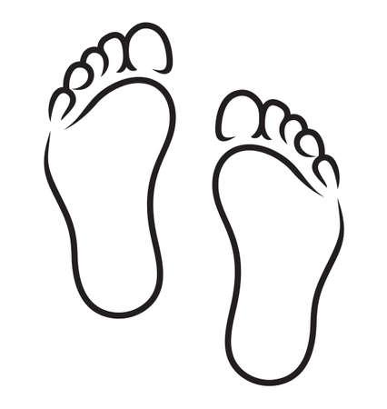 Illustration for foot symbol - Royalty Free Image
