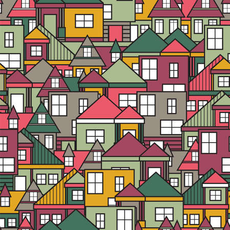 House seamless pattern