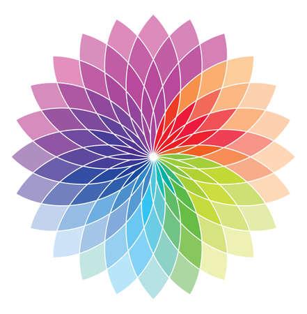 Flower shape color wheel