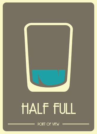 A glass half full