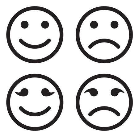 Illustration pour Smile icon set - image libre de droit