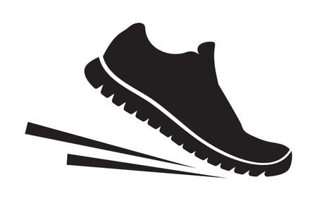 Illustration for Running shoes icon - Royalty Free Image