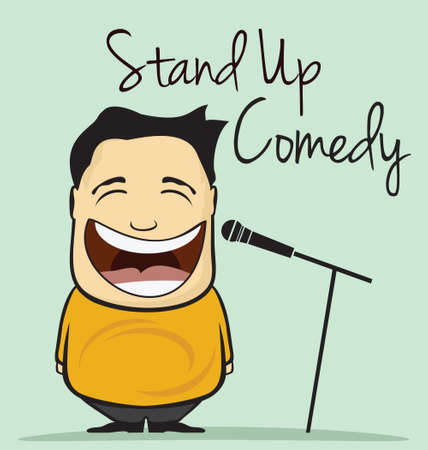 Stand up comedy vector illustration
