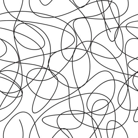 Curve line seamless vector pattern