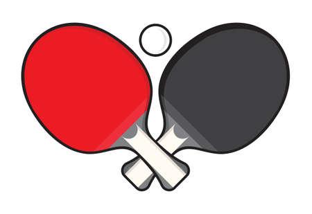 Illustration pour Table tennis - ping pong rackets - image libre de droit