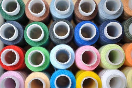 Multi-coloured threads for embroidery