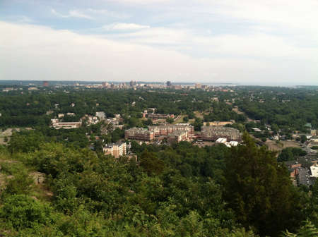 View of New Haven CT from the top of west rock