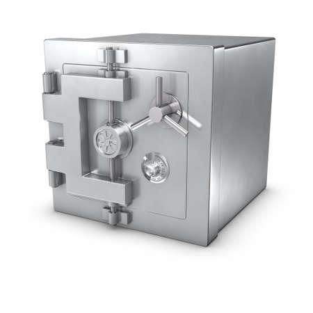Photo pour 3d rendering of a bank safe - image libre de droit