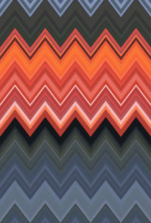 Chevron zigzag red, orange flame fire pattern abstract art background, apricot, bittersweet, cantaloupe, carrot, coral, titian red-yellow color trends