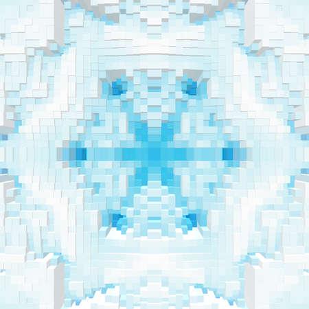 Photo pour Cube 3d extrude symmetry pattern - image libre de droit