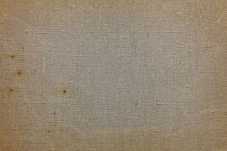 Photo for Natural rustic grey and brown flax duck linen fabric textile sailcloth canvas texture background pattern with darker border shade vignette - Royalty Free Image