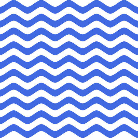 blue wavy nautical chevron seamless pattern background. vector illustration