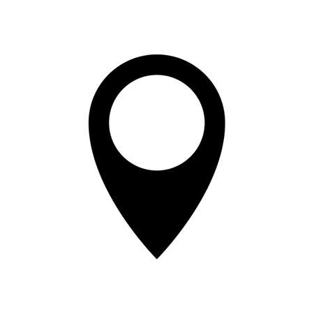 Illustration pour pin drop icon. pin point icon. geolocation sign or symbol. location icon. map pin drop. location map pointer. isolated on white background. - image libre de droit