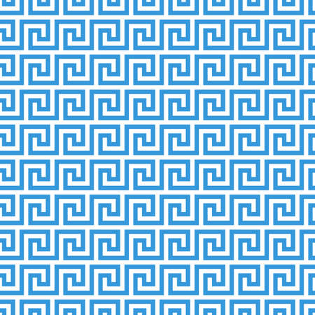 Foto de greek fret meander. vintage greek key seamless pattern background - Imagen libre de derechos