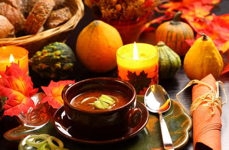 Goulash soup for autumn and Thanksgivingの写真素材