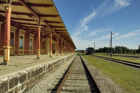 Old railway station in Haapsalu