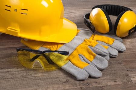 Photo pour Standard construction safety equipment - image libre de droit