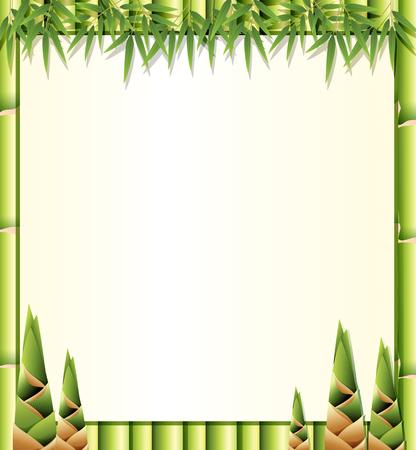 Illustration pour Beautiful nature bamboo template illustration - image libre de droit